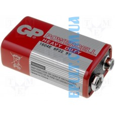 Батарейка 6F22 GP Powercell 1604Е-S1 (крона) /шт